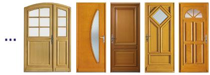 porte entree bois - Portes d'entrée