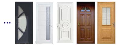 porte entree pvc - Portes d'entrée